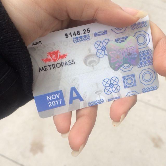 November TTC Bus Pass