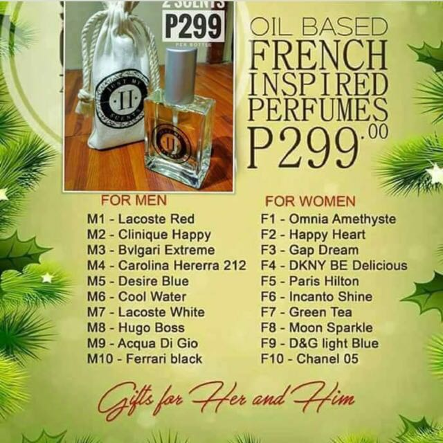 Oil based french perfume