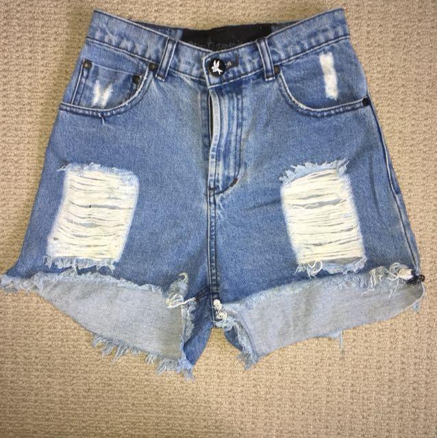 Oneteaspoon denim shorts - high waisted size 6