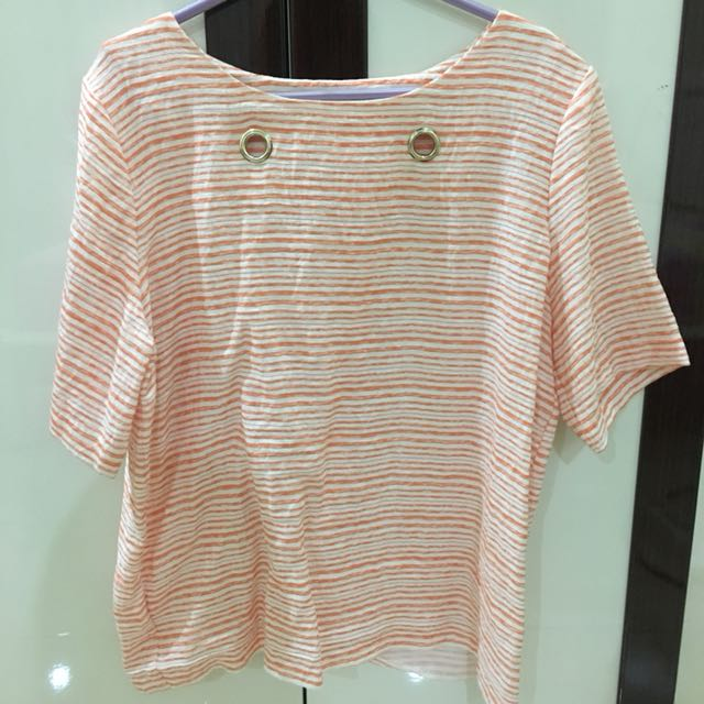 Orange Stripe Shirt