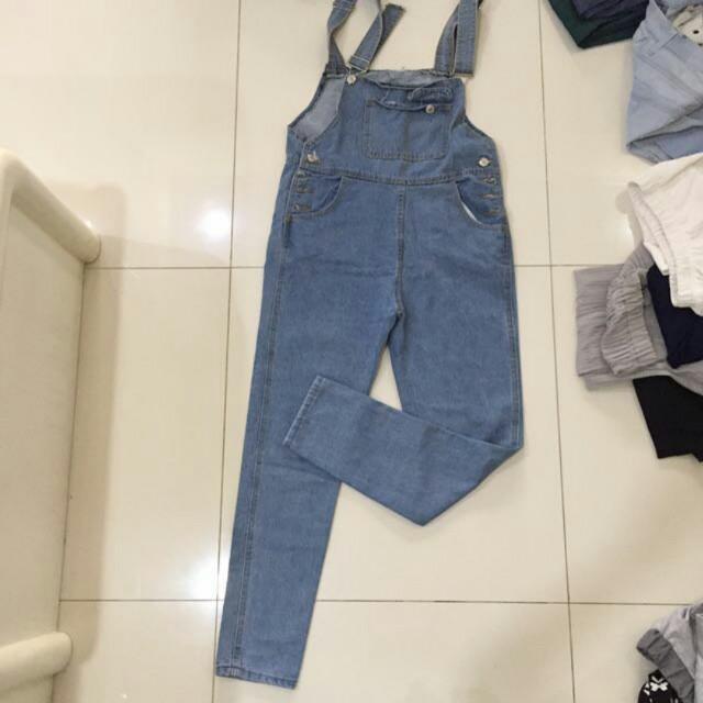 Overall jeans panjang