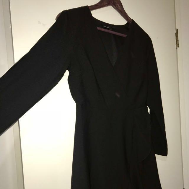 Pagani Frilly Wrap Dress