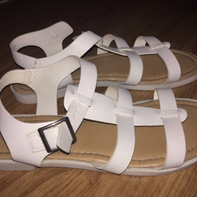 Parisian White Sandals