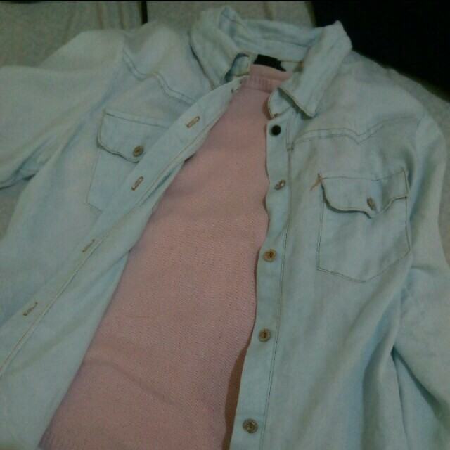 Pastel pink long sleeves