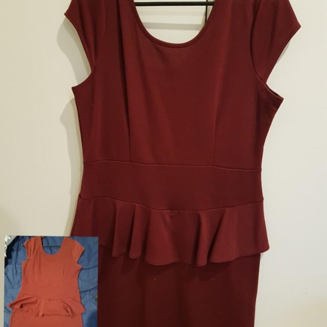 Peplum Dress Size L