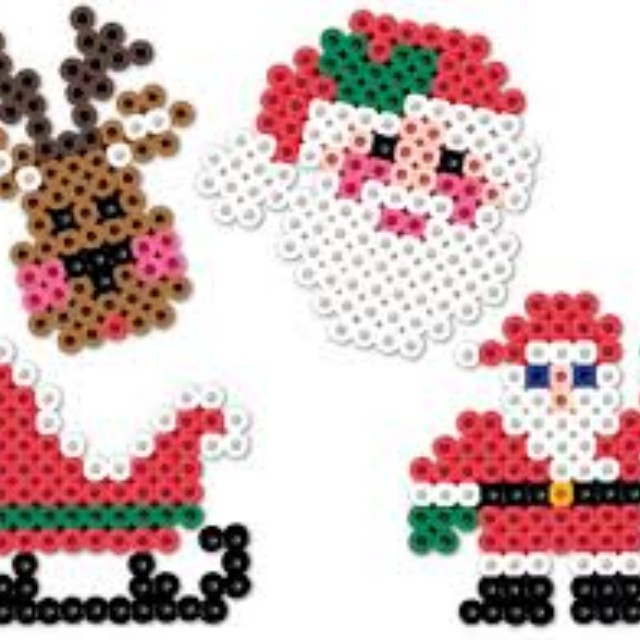 Perler Beads Keychains (Christmas)