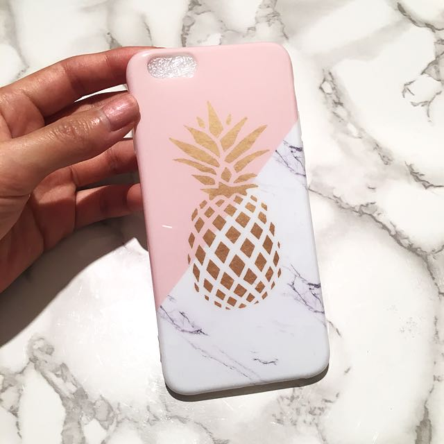 Pink + Gold Pineapple Iphone 6S Phone Cover