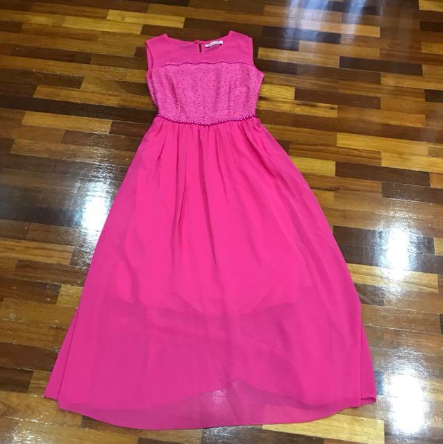 Pink dinner dress