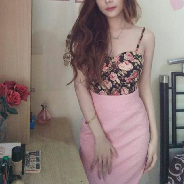 Soft Pink Midi Skirt