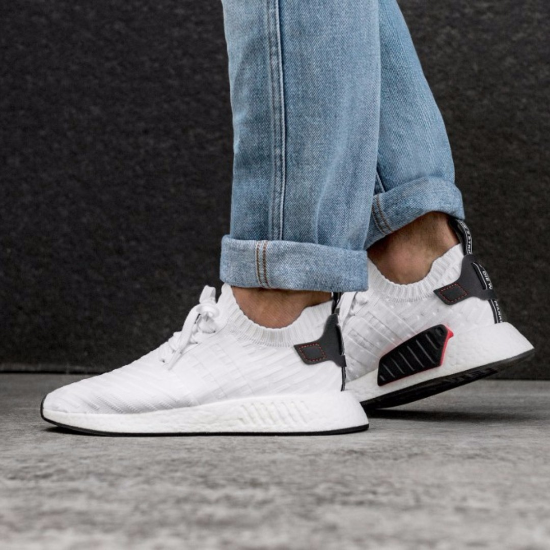 promo code 37179 49c82 PO) Adidas Mens NMD R2 PK White, Men's Fashion, Footwear ...