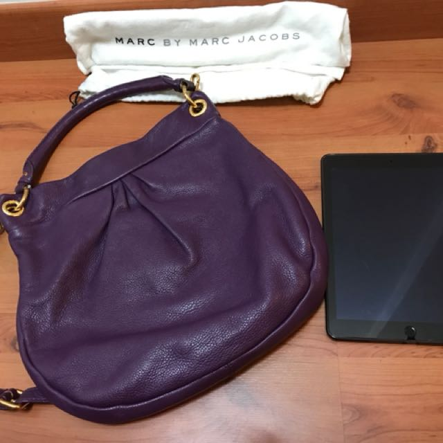 4739af525ad Preloved Authentic Marc by Marc Jacobs Hillier Hobo in Purple, Women's  Fashion, Bags & Wallets on Carousell