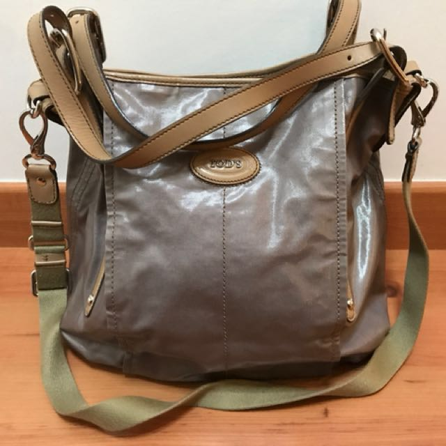 357417443e49 Preloved Authentic TODS Canvas G-Bag Easy Mini Tote