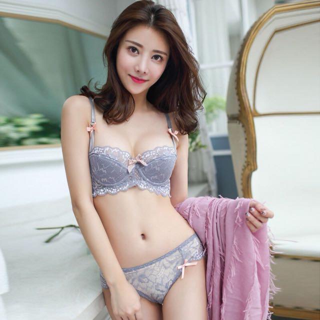 Premium lace bra set panties