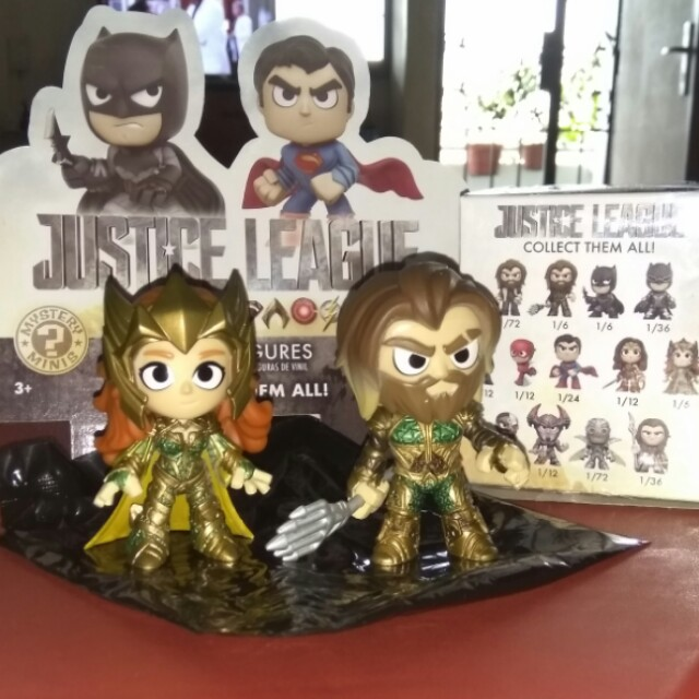 (ON HAND) Aquaman & Mera Justice League DC Funko Mystery Minis