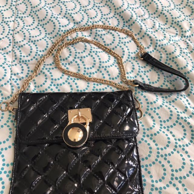 Quilted Black Sling Bag