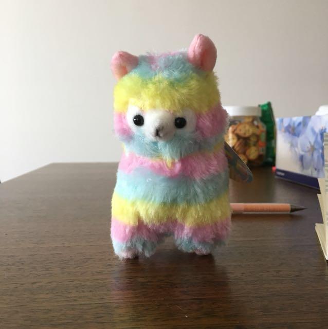 Rainbow alpacaso keychain