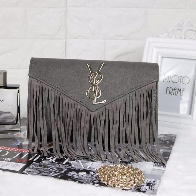 Ready stock: YSL Grey Tassel sling bag