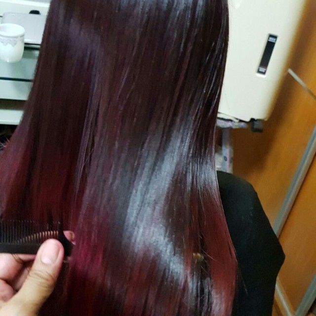 Rebond With Cellophane Health Beauty Hair Care On Carousell