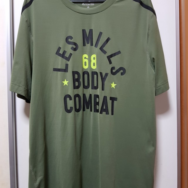 Reebok LESMILLS BODYCOMBAT, ACTIVCHILL Tee Mens Short Sleeve, Green