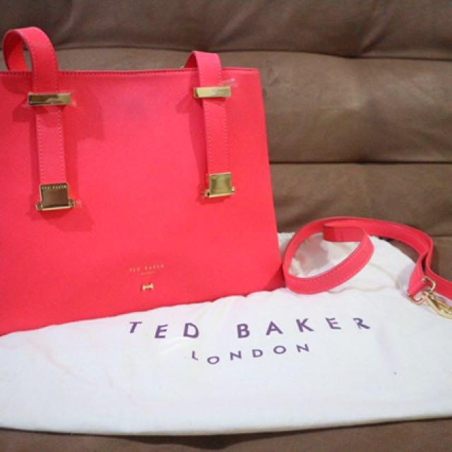 Reprice !! Authentic Ted baker Crossbody Bag (fuchsia Color)