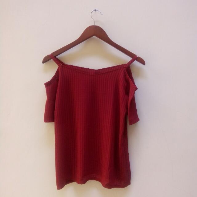 Sabrina Red Top