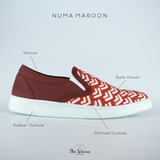 Sneakers Etnik NUMA MAROON