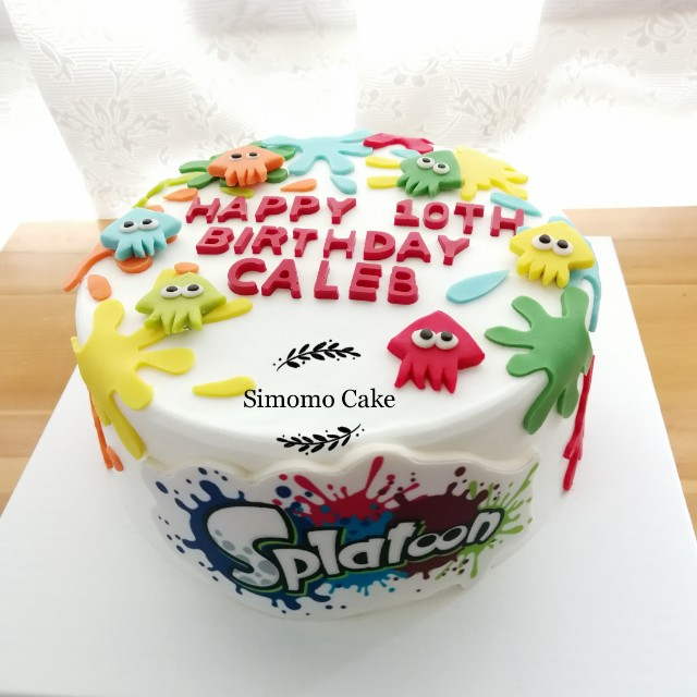 Splatoon Cake Free Delivery Food Drinks Baked Goods On