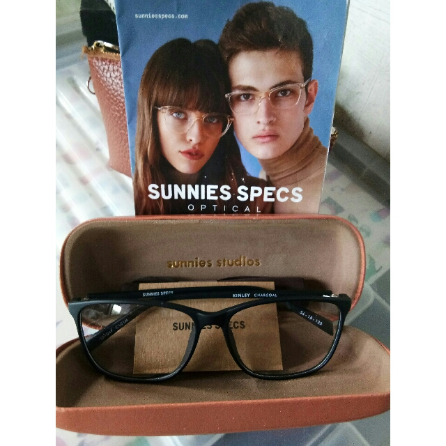 Sunnies Specs  (Kinley) A thin, tall square frame.