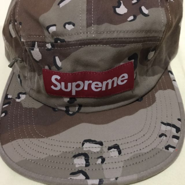82d15484 Supreme side zip camp cap, Men's Fashion, Accessories on Carousell