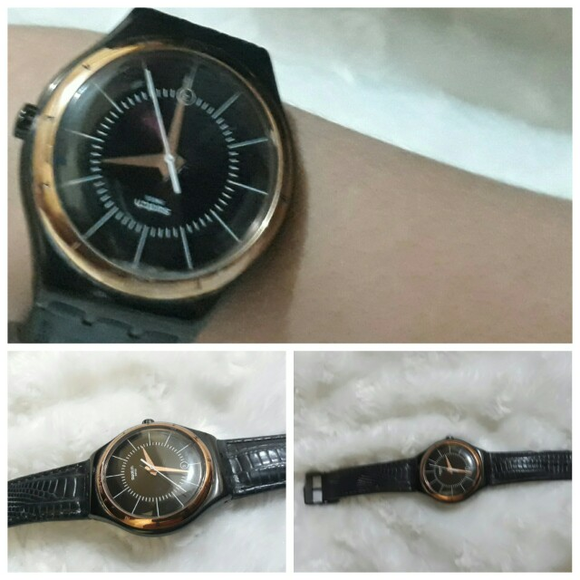 Swatch Leather Watch