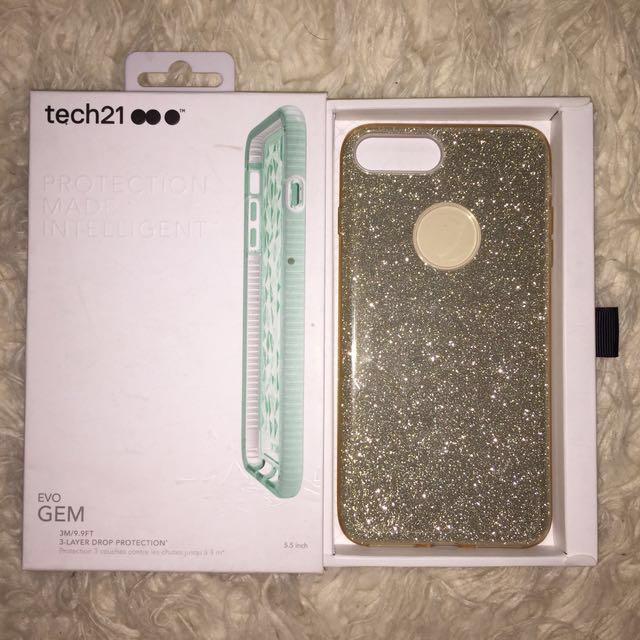 Tech21 gold iPhone plus case