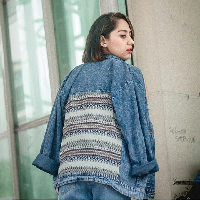 Tribal oversized jacket