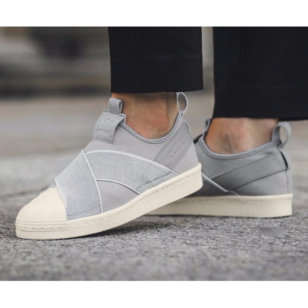 5eb1b09a uk4 adidas superstar della donna scivolare su forte grey, la moda femminile