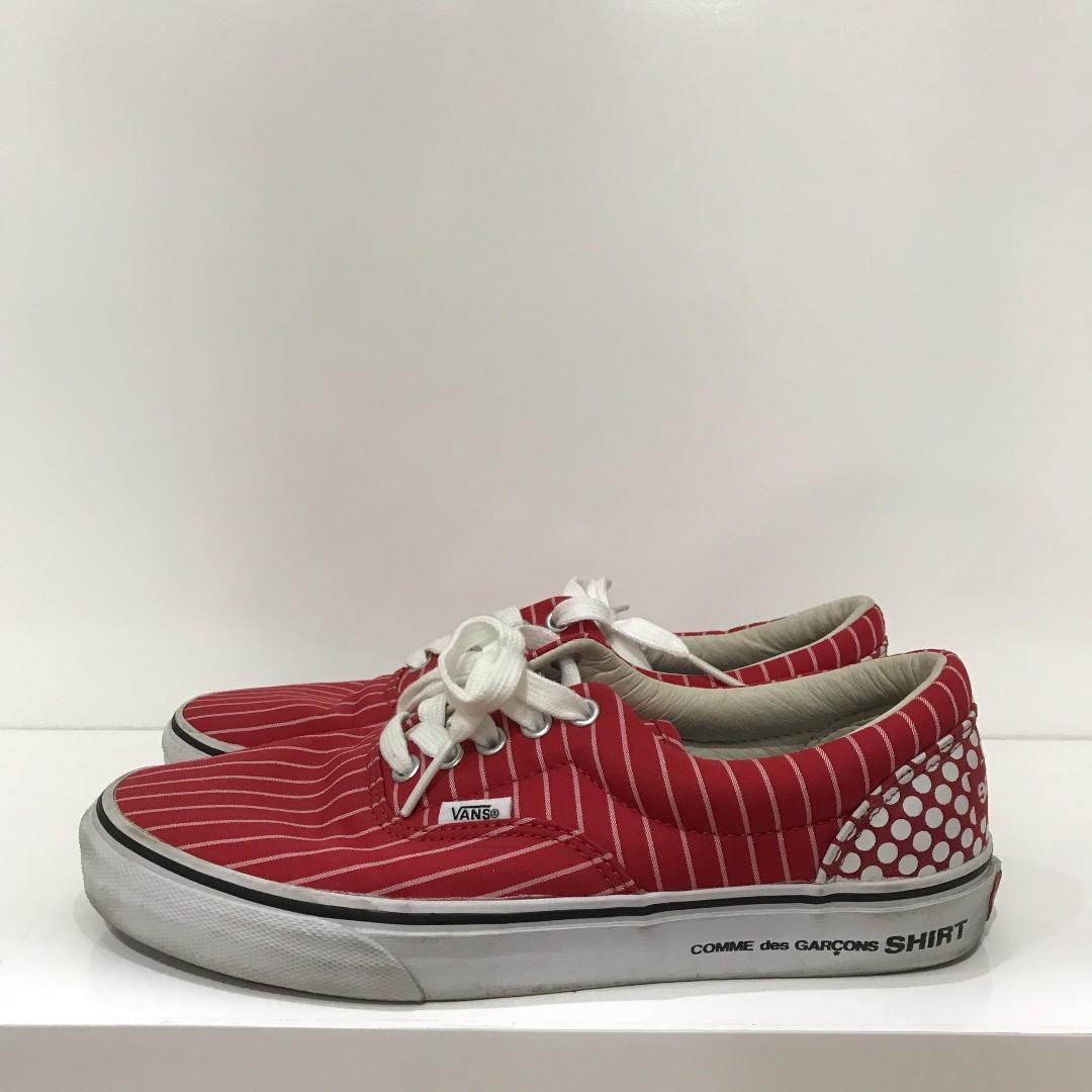 9504a90152510 US8.5 - Supreme x CDG Shirt x Vans Era Red, Men's Fashion, Footwear ...