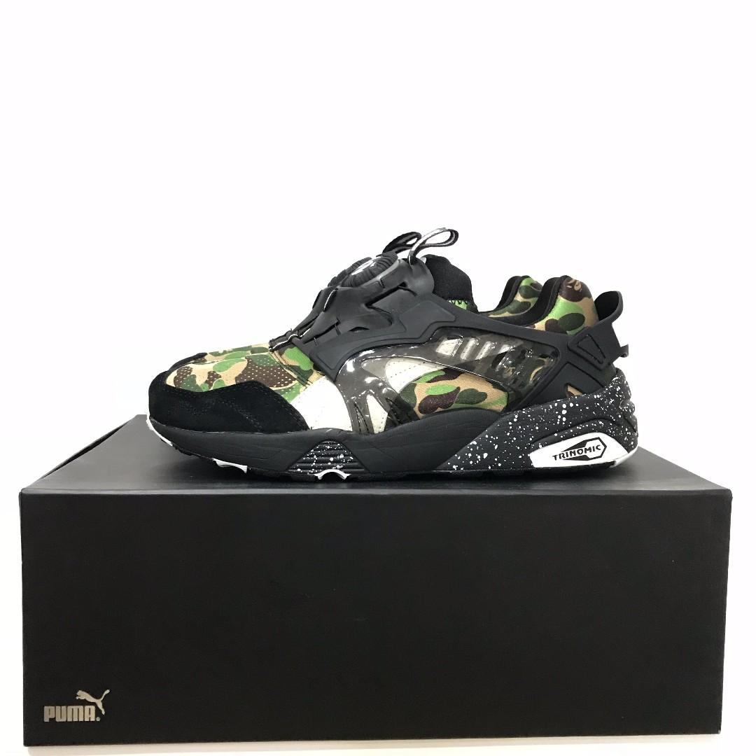 02d45d069285b US8 - BAPE x Puma Disc Blaze Green Camo, Men's Fashion, Footwear ...
