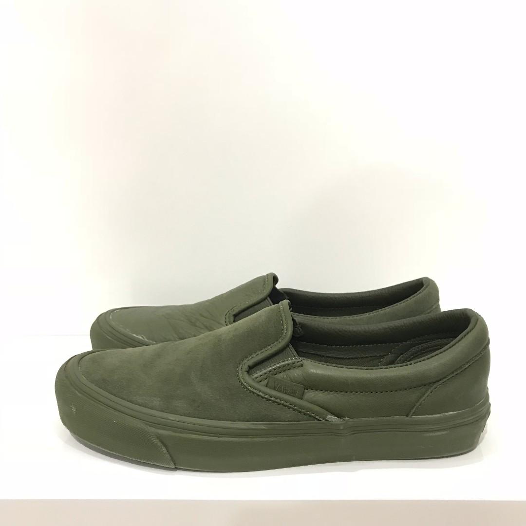 c2efdd7402 US8 - Engineered Garments x Vans Slip Ons Olive Green