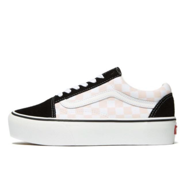 f57c9ea795a Vans Old Skool Platform Women s ( Black Pink Checkerboard )