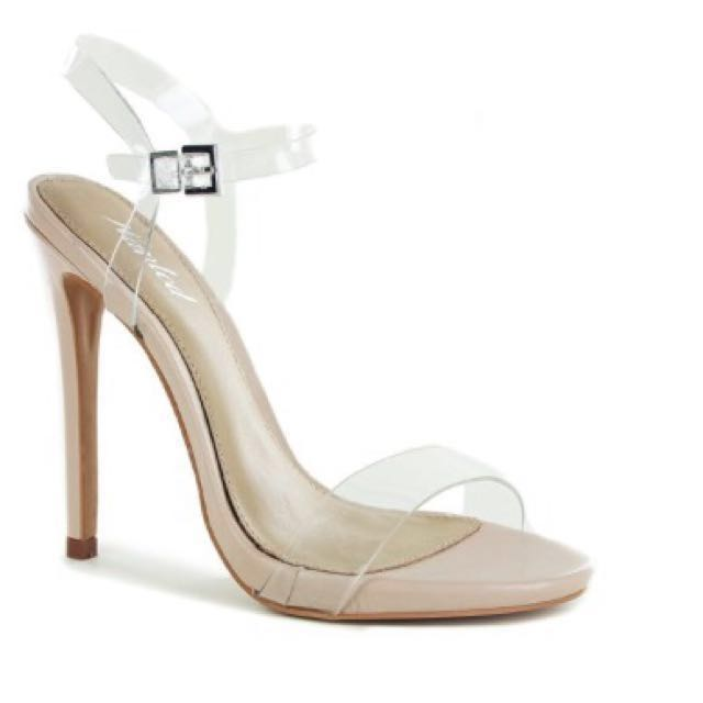 Wanted Packed Strappy perspex Heels