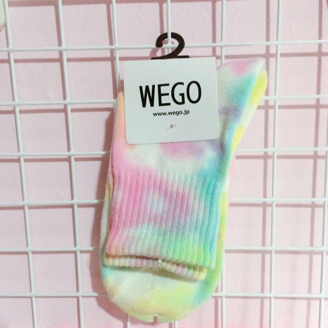 WEGO彩虹漸層襪