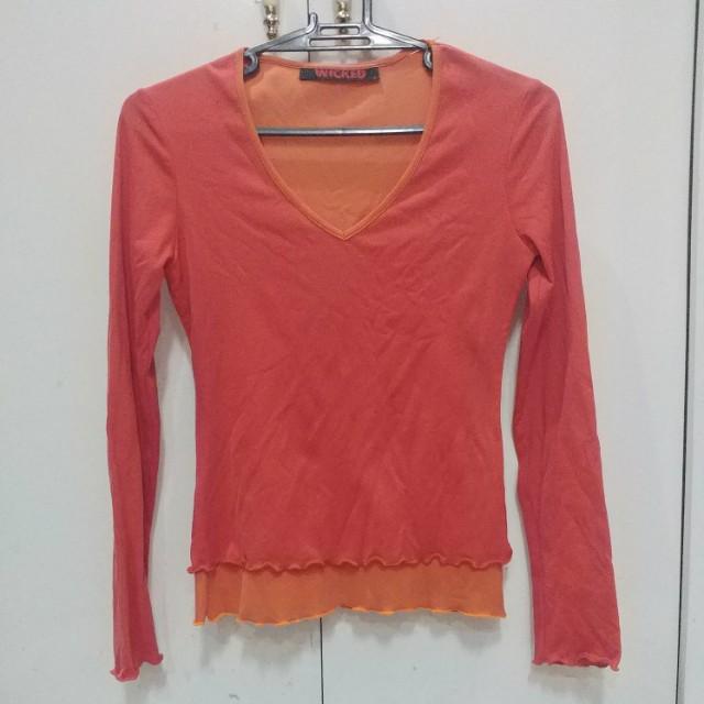 Wicked Layered Long Sleeves - Orange