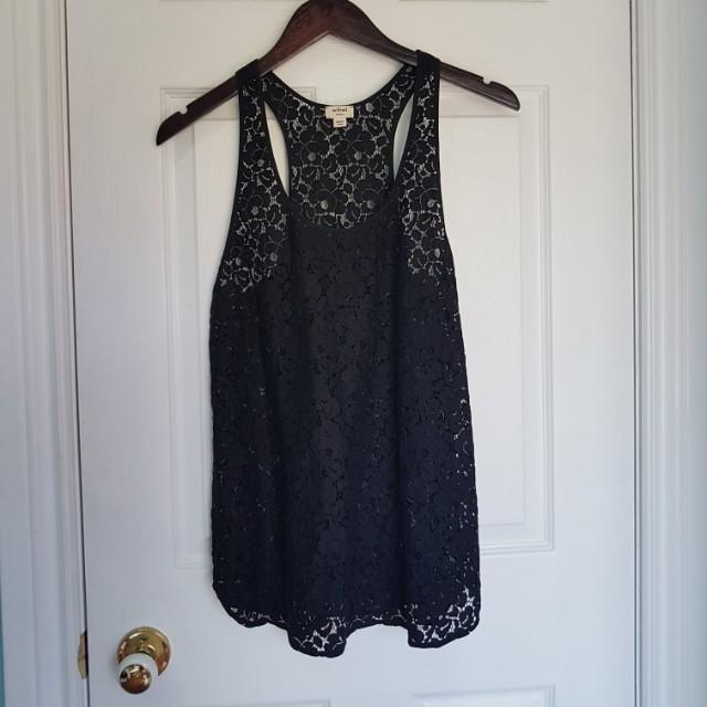 Wilfred lace black tanktop