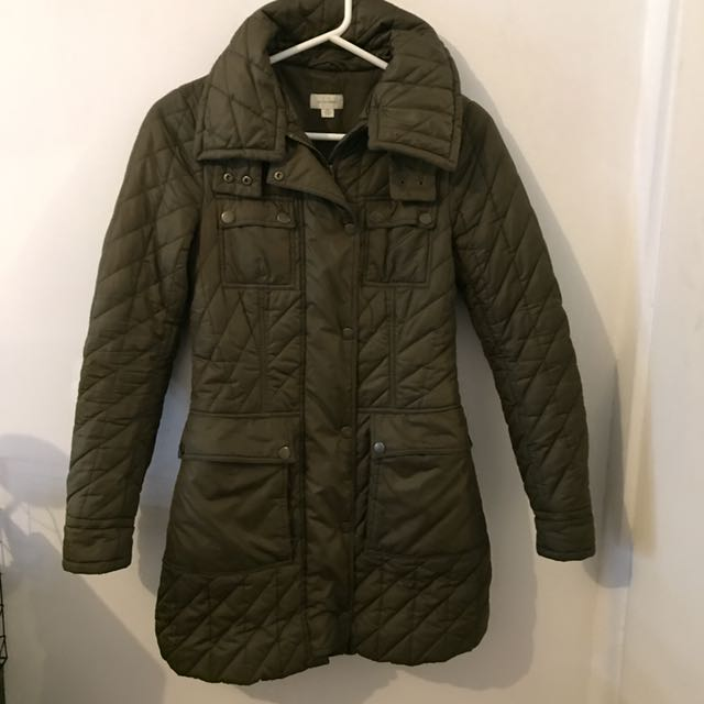 Witchery Khaki Puffer Jacket