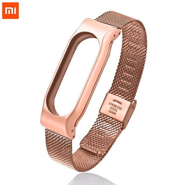 XIAOMI MI BAND 2 STAINLESS STEEL STRAP (Rose Gold)