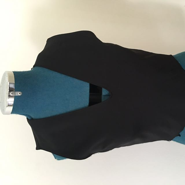 Zara Black Cropped Top