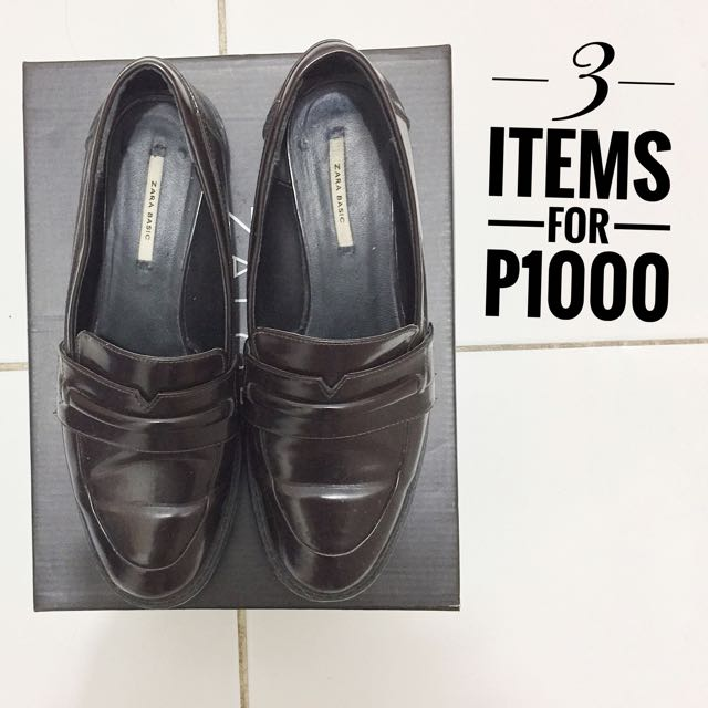 Zara Brogues Loafers Size 37