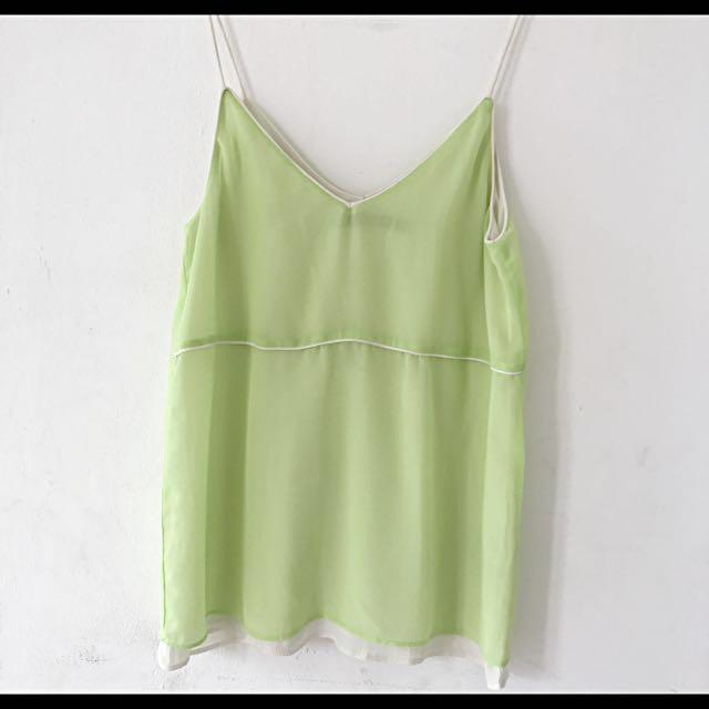 Zara Lime Green Tank Top