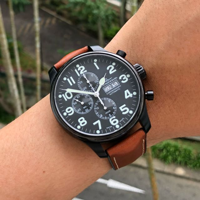5d85761bfdeec Zeno Watch Basel Pilot Chronograph, Luxury, Watches on Carousell