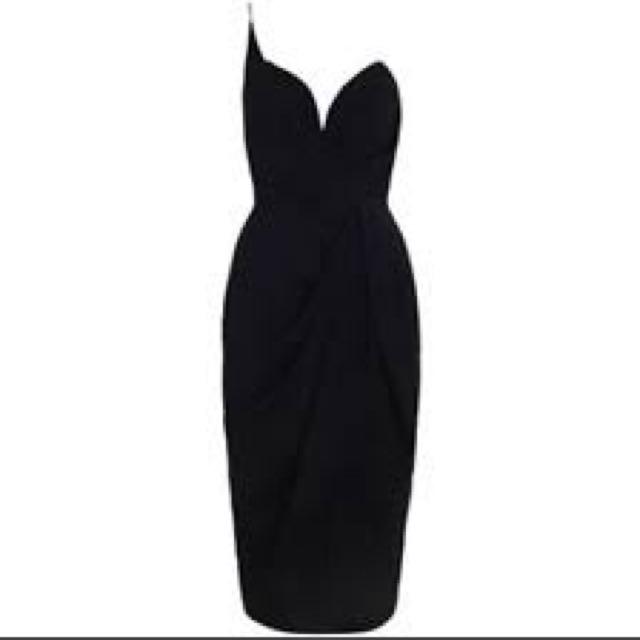 Zimmerman black tulip dress