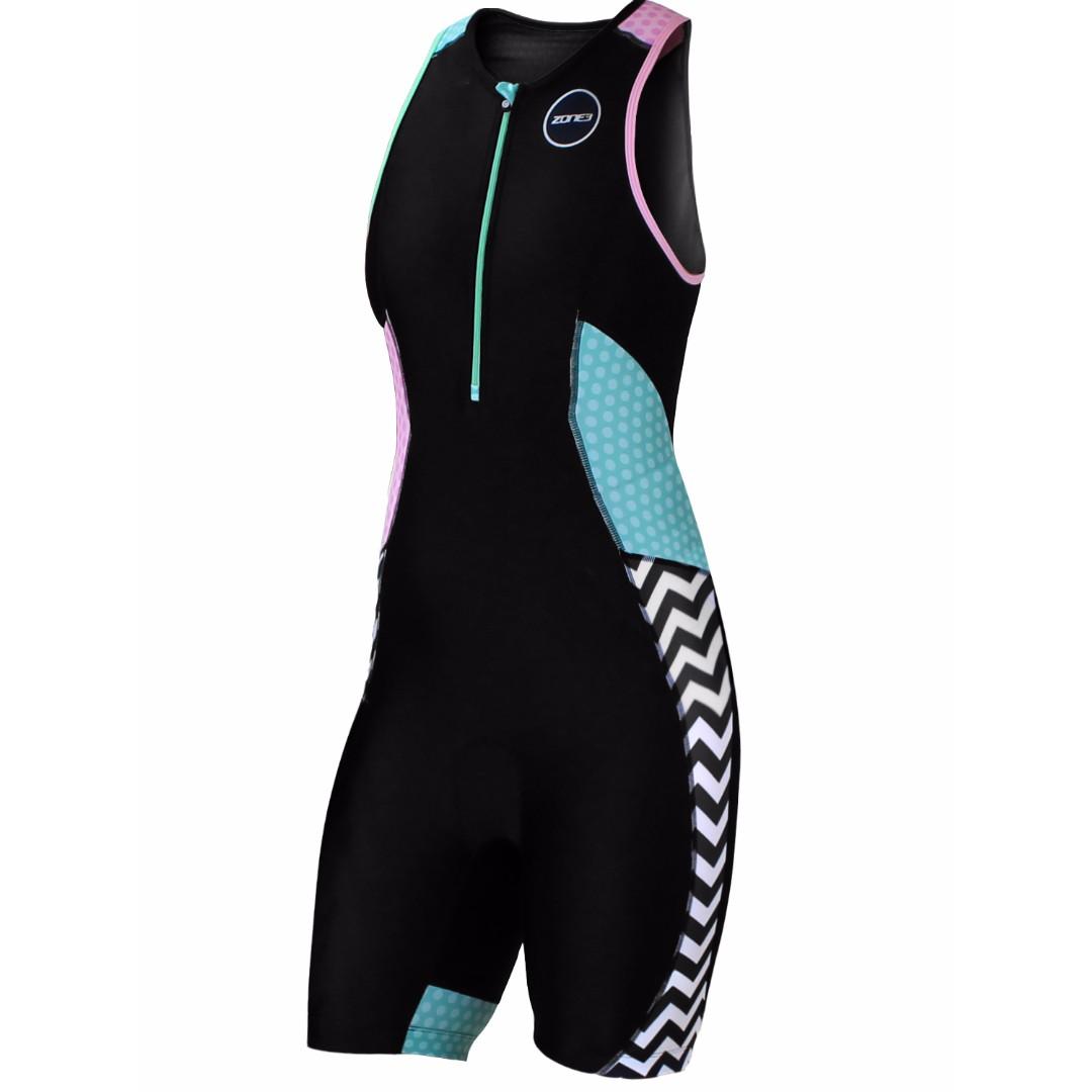 059a8e0a40b ZONE3 Women Activate Plus Trisuit Zebra Fly Size XS