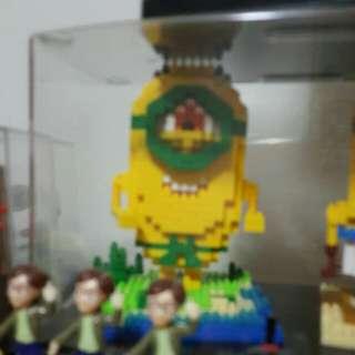 minions lego nano block
